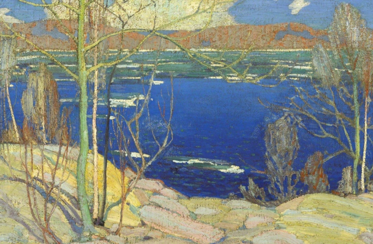 "Tom Thomson ""Spring Ice"", 1916. Collection of the National Gallery of Canada."